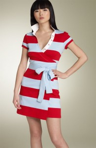 Nordstroms Ruby Stripe Wrap Dress $235.00
