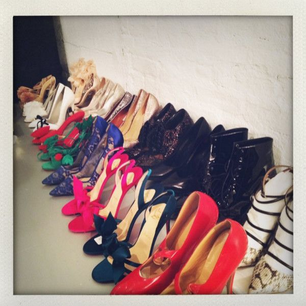 Stylist Kate Young displays shoe-OPTIONS!