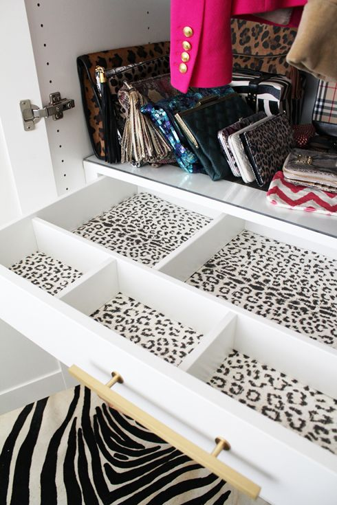 closet drawer decor